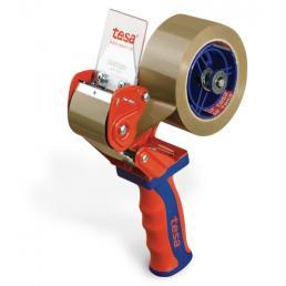 Dispenser manuale per nastri adesivi per imballaggio con impugnatura in gomma