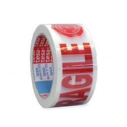 Nastro adesivo per imballaggio con dicitura fragile e sigillo di sicurezza