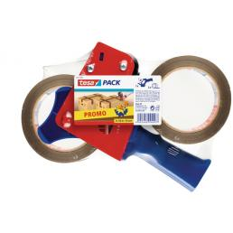 Promopack dispenser with two rolls of packing tape