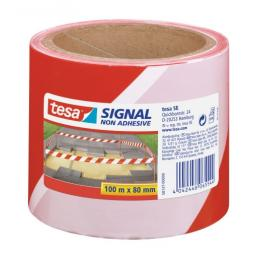 Non adhesive signaling tape - White/Red