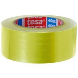 Nastro telato standard rivestito in polietilene giallo 25 mt x 50 mm