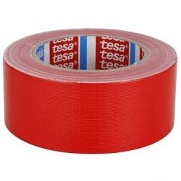 Nastro telato standard rivestito in polietilene rosso 25 mt x 50 mm