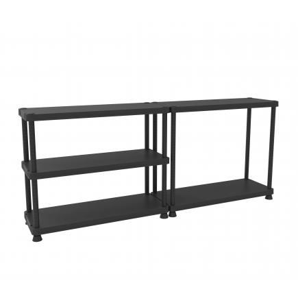 5 shelves shelving unit with 2 assembling options 45x120