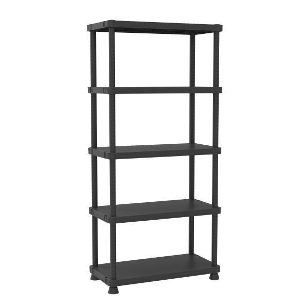 5 shelves shelving unit with 2 assembling options 45x90. Black Bedroom Furniture Sets. Home Design Ideas