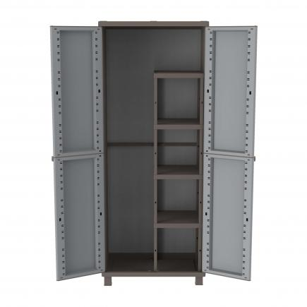 2 Doors Outdoor Cabinet 68x37,5x170 - 3 adjustable inner shelves