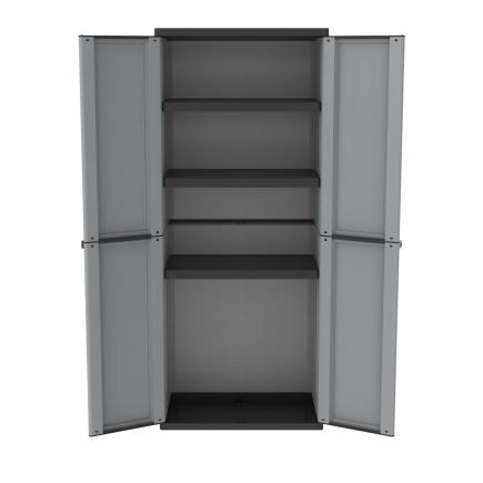 2 Doors Outdoor Cabinet 68x37,5x163,5 - 3 adjustable inner shelves