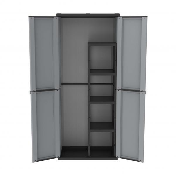 368 - 2 DOORS OUTDOOR CABINET 68X37,5X163,5 4 ADJUSTABLE INNER SHELVES