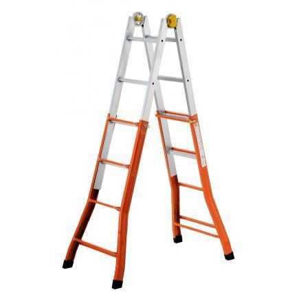 Steel telescopic ladder