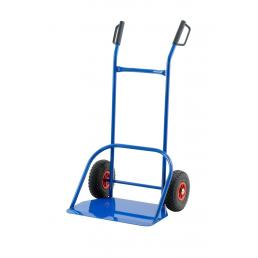 Professional steel hand-truck with big plate