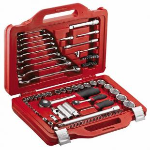 Assortment with hexagonal sockets and combinaton wrenches in modular box (82 pcs.)