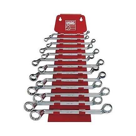 Set of 13 offset bihexagonal ring wrenches