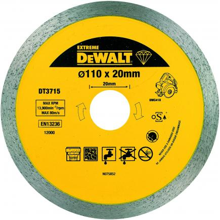 Continuous Rim Dry -Wet Cutting Discs 110x20x8mm