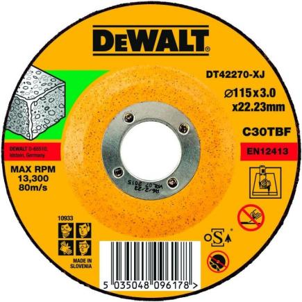 Angle Grinder Stone Cutting Disc - Flat Centre (25 pcs.)