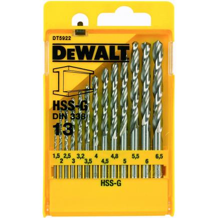 Kit of 13 HSS-G Drill Bits in Metal Case