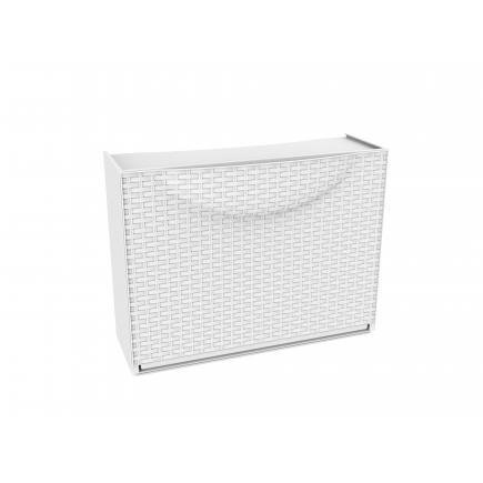 Overlapping plastic shoe storage - Capacity 3 pairs - White Rattan