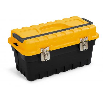 Tool case with tool tote tray - Black/Yellow