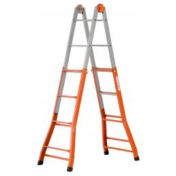 Steel telescopic ladder