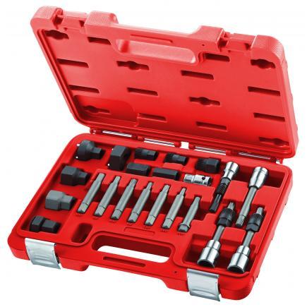 Set di 22 chiavi per lo smontaggio e il montaggio delle ghiere pulegge alternatori