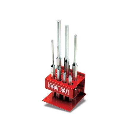 Set of 7 pin punches