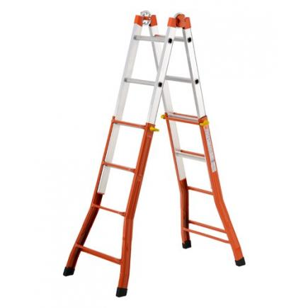 Steel and Aluminium extension Ladder