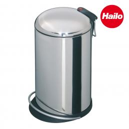 Stainless Steel Bin with Curved Lid 16L