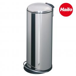Stainless Steel Bin with Curved Lid 26L
