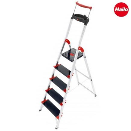 Safety Ladder with Multifunction Tray and Rail