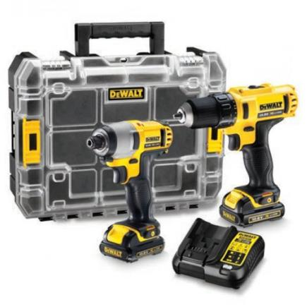 "Cordless Drill Driver + 1/4"" Impact Wrench"
