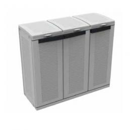 Eco Cab 3 PLUS - 3 door cabinet for differentiated waste collection with an inner adjustable shelf