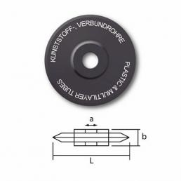 Spare cutting wheel for plastic tubes