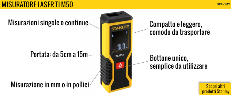 Misuratore laser Stanley